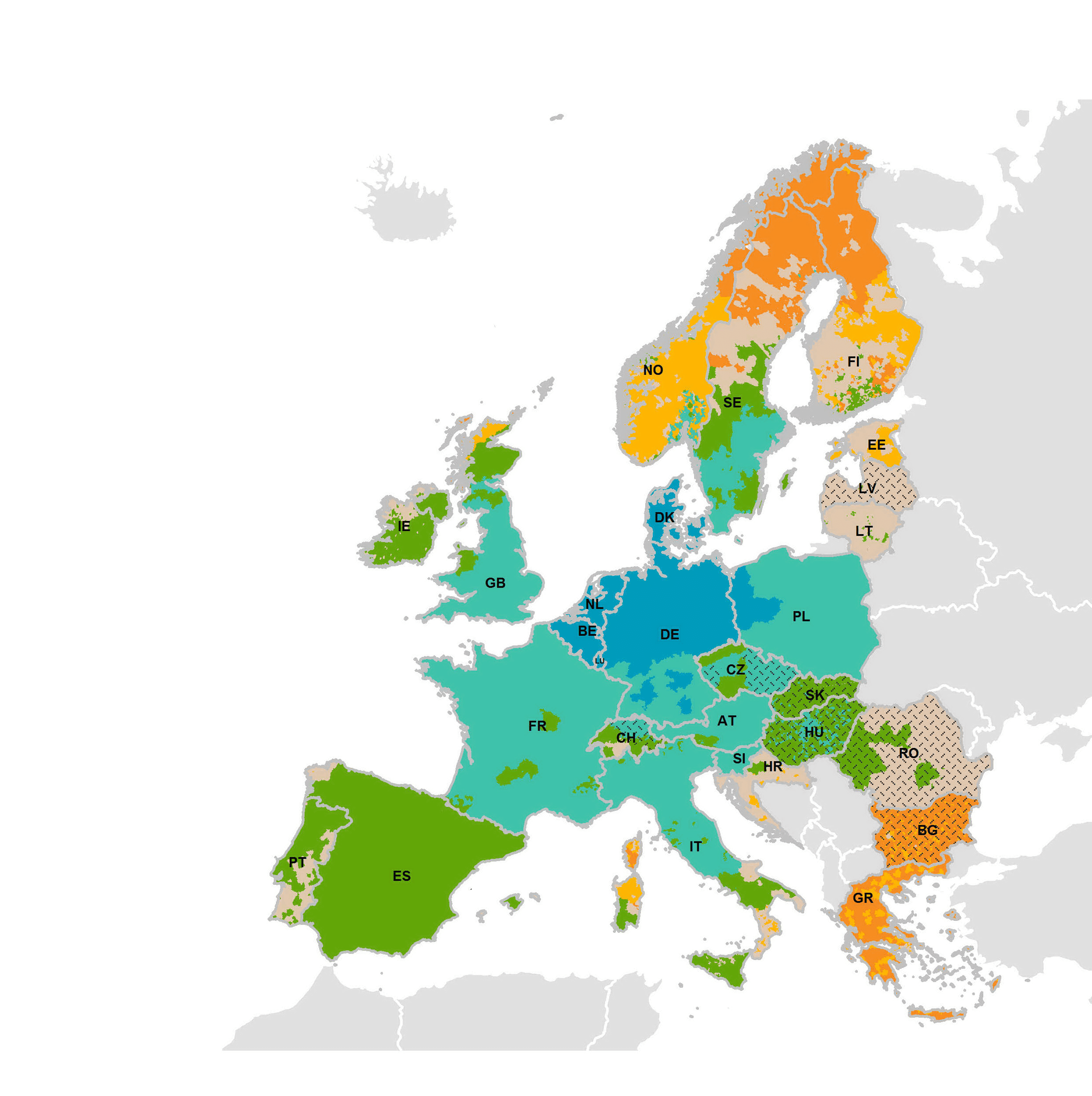 European Transit Time Map UPS Standard