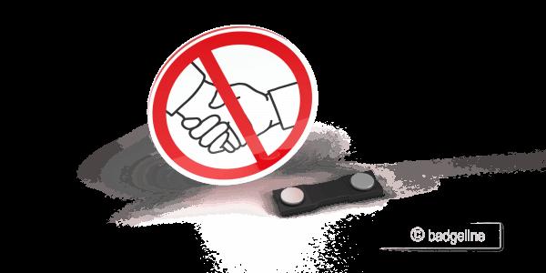 LaserContur Symbolschild no handshake, kein Händeschütteln, Hygienemaßnahme