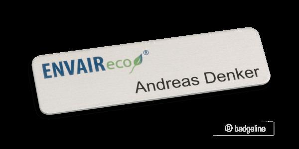 Namensschild AluContur | Comfort 70x20 mm 4C Untereloxaldruck