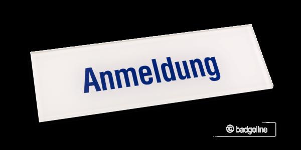 Tuerschild Serie-Plus 15x5 cm Standardtext blau